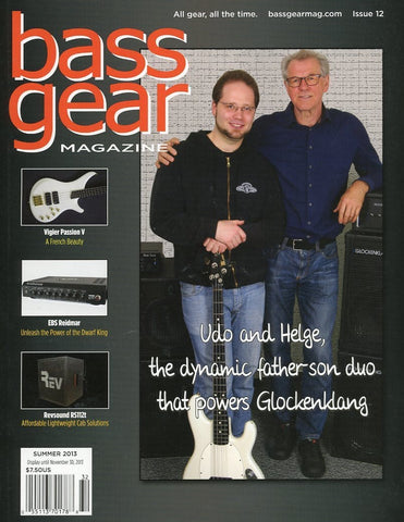 Bass Gear Magazine Back Issue - Summer 2013