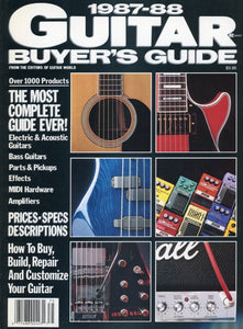1987-1988 Guitar Buyer's Guide Magazine Back Issue