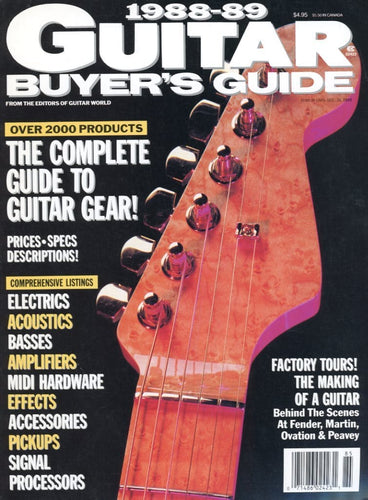 1988-1989 Guitar Buyer's Guide Magazine Back Issue
