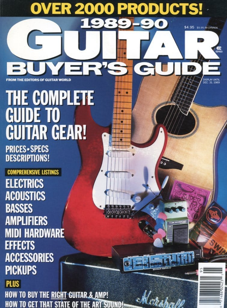 1989-1990 Guitar Buyer's Guide Magazine Back Issue