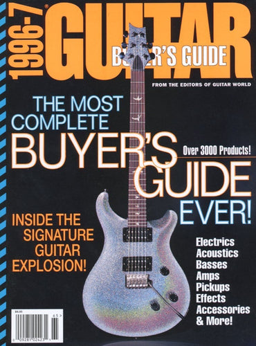 1996-1997 Guitar World Buyer's Guide Magazine Back Issue