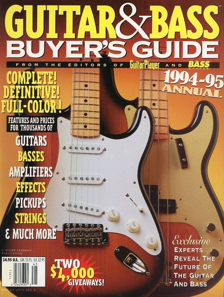 1994-1995 Guitar & Bass Buyer's Guide Magazine Back Issue