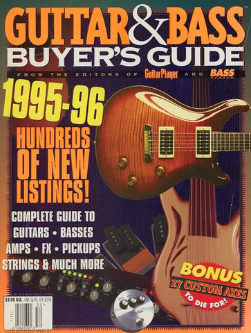 1995-1996 Guitar & Bass Buyer's Guide Magazine Back Issue