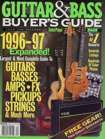1996-1997 Guitar & Bass Buyer's Guide Magazine Back Issue
