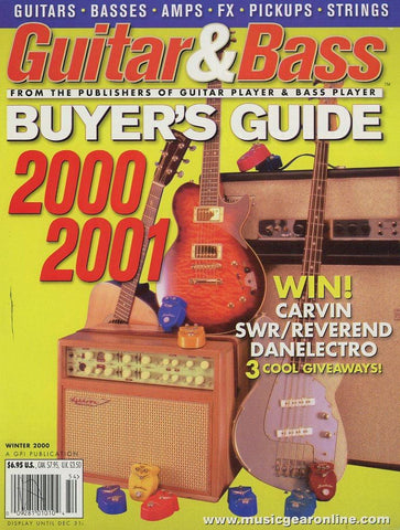 2000-2001 Guitar & Bass Buyer's Guide Magazine Back Issue