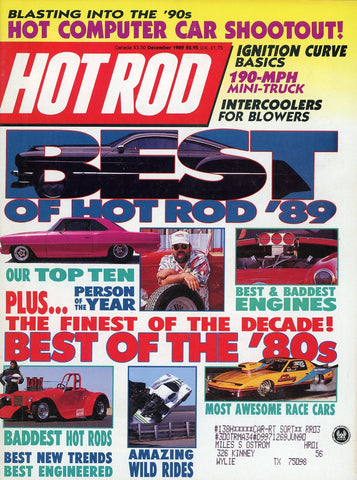 Hot Rod December 1989 Magazine Back Issue - Vintage Car Enthusiast Gift - Race Car Memorabilia