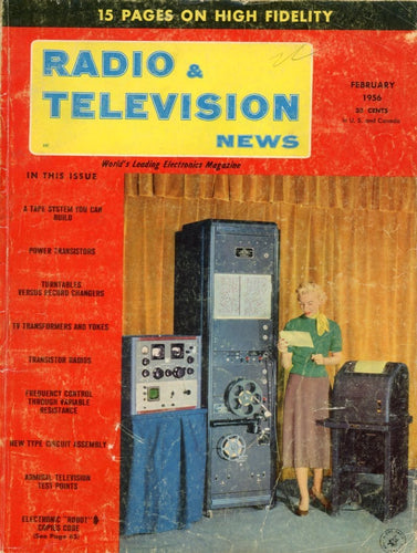 Radio & Television News - February 1956 Magazine Back Issue