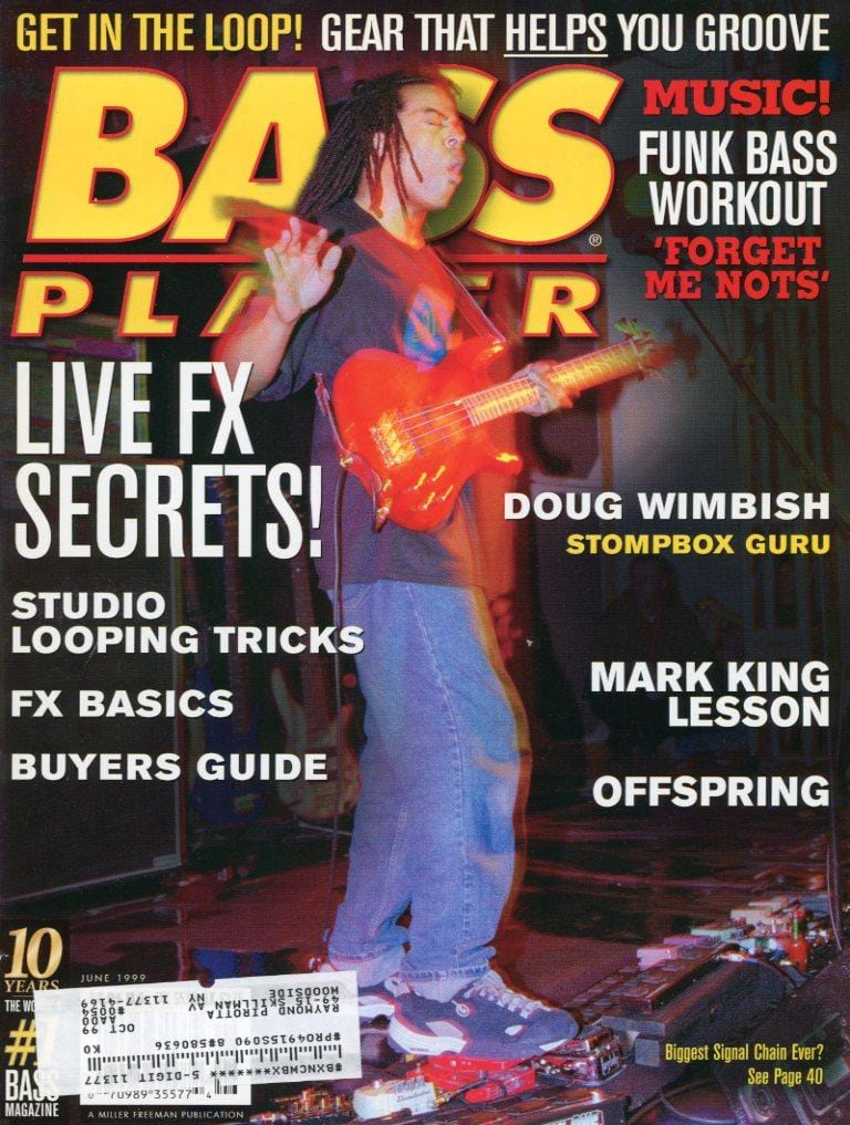 Bass Player Magazine Back Issue - June 1999