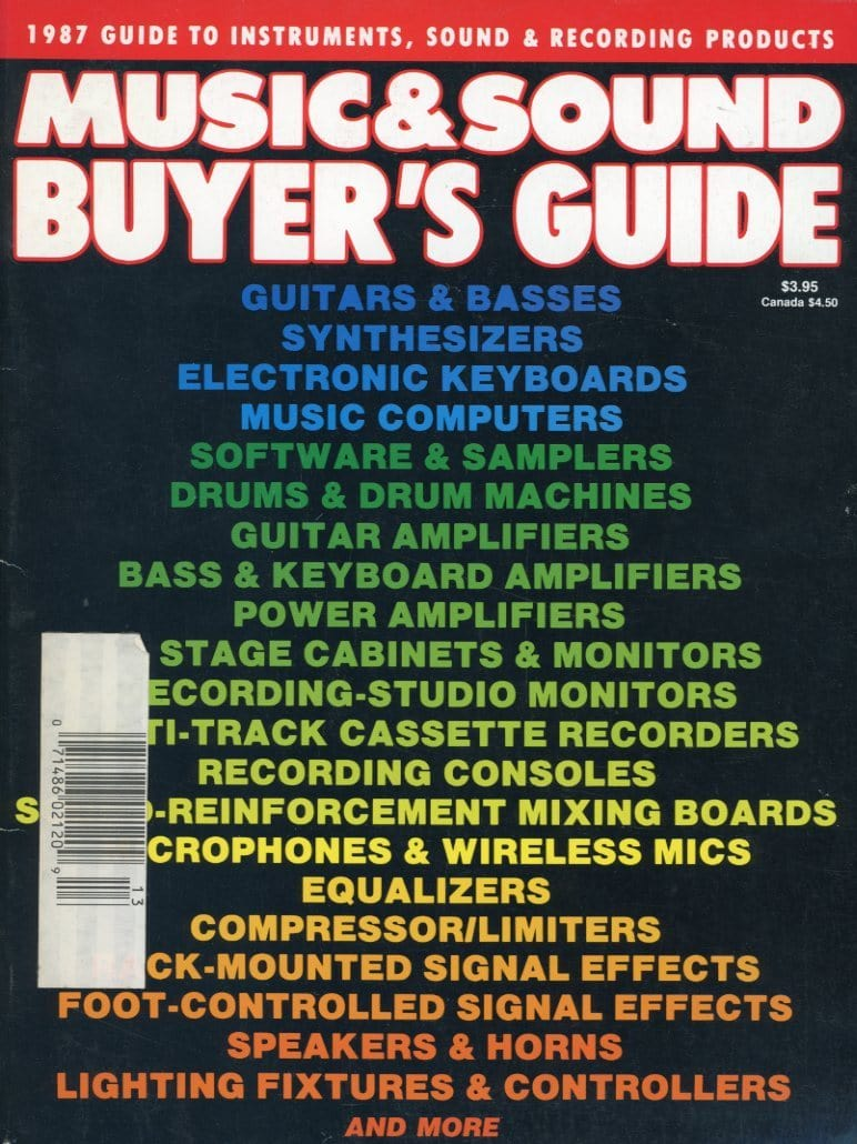 1987 Music & Sound Buyer's Guide Magazine Back Issue