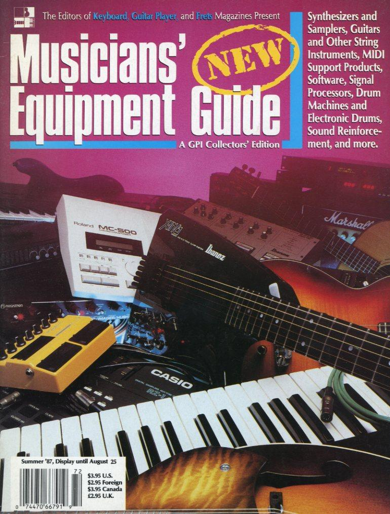 Musician's Equipment Guide - Summer 1987 Magazine Back Issue