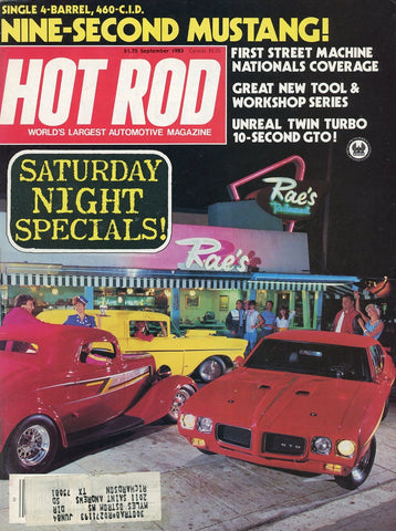 Hot Rod September 1983 Magazine Back Issue - Vintage Car Enthusiast Gift - Mustang Memorabilia