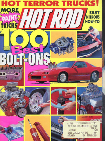 Hot Rod June 1991 Magazine Back Issue - Vintage Car Enthusiast Gift - Automobile Memorabilia