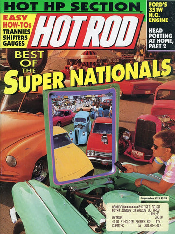 Hot Rod September 1991 Magazine Back Issue - Vintage Car Enthusiast Gift - Automobile Memorabilia