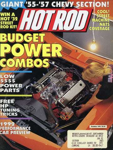 Hot Rod October 1991 Magazine Back Issue - Vintage Car Enthusiast Gift - Chevy Memorabilia