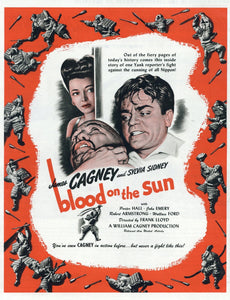 Blood On The Sun Movie Advertisement - James Cagney Memorabilia - Sylvia Sidney