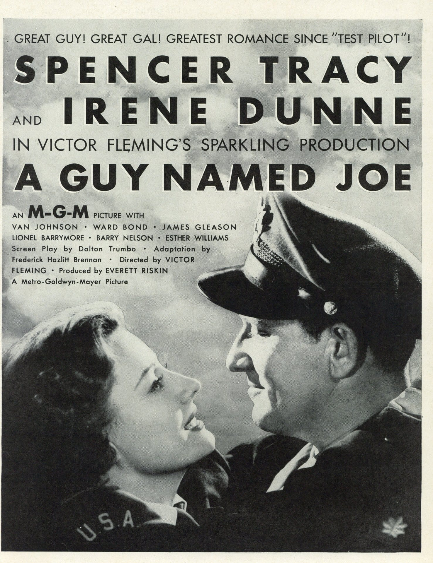A Guy Named Joe Movie Advertisement - Spencer Tracy - Classic Movie Memorabilia