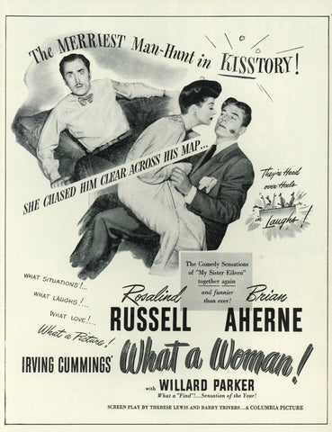 Irving Cummings' What A Woman Movie Advertisement
