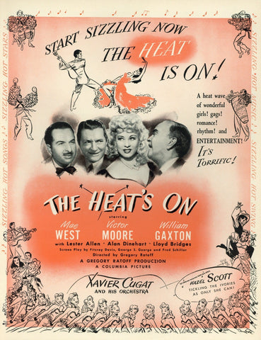 The Heat's On Movie Advertisement - Mae West - Victor Moore - William Gaxton