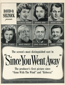 Since You Went Away Movie Advertisement - Classic Movie Memorabilia