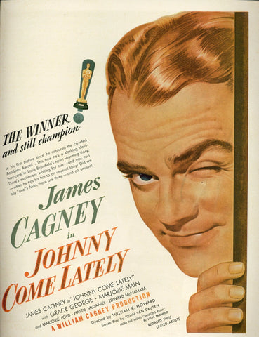 Johnny Come Lately Movie Advertisement - James Cagney Memorabilia