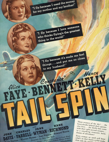 Tail Spin Movie Advertisement - Vintage Movie Memorabilia - Home Theater Decor