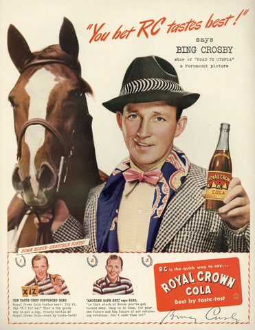 Royal Crown Cola Advertisement - Vintage Soda Pop - Living Room Decor - 1940's Print Ad