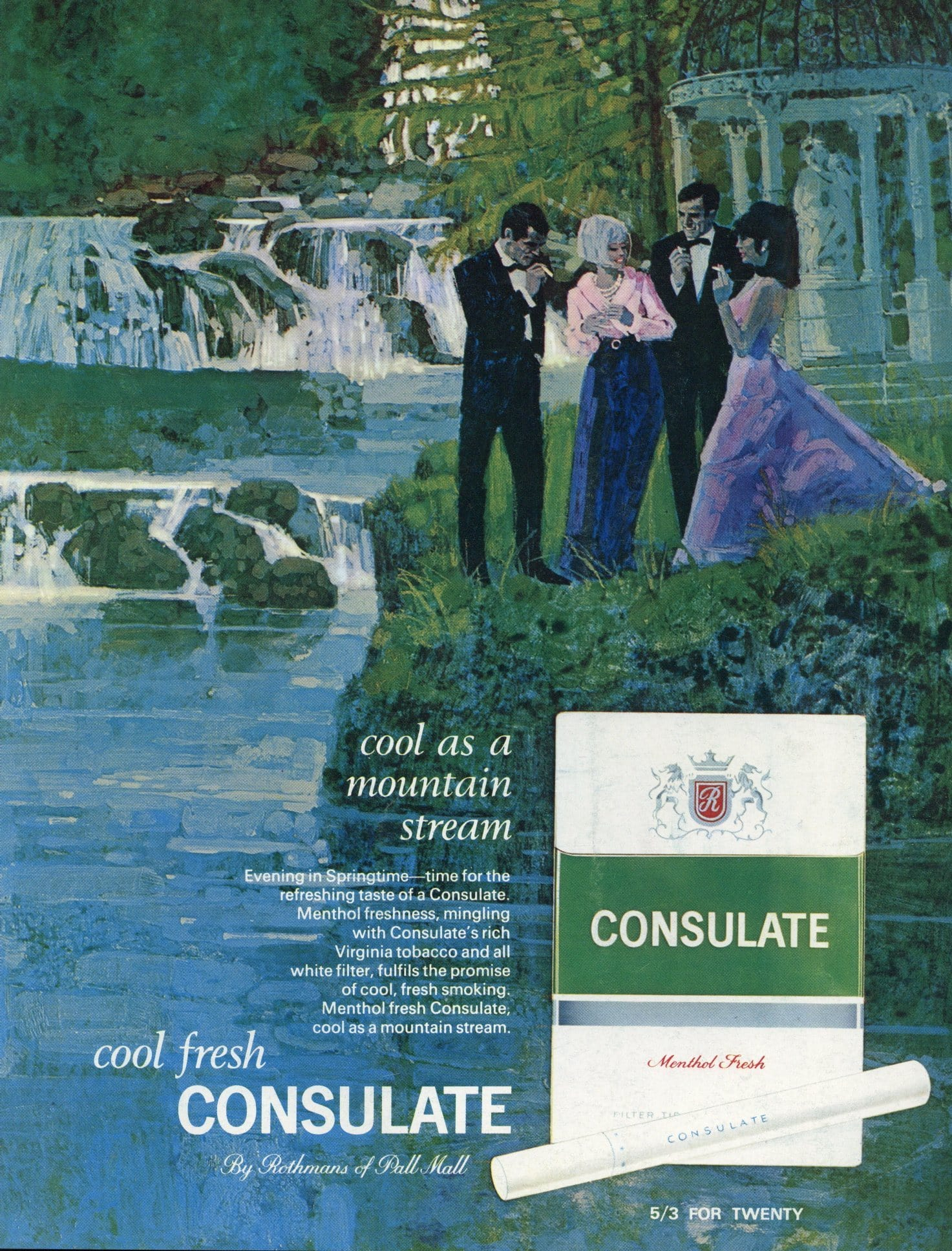 Consulate Cigarettes Advertisement - 1960's Print Ad - Mid Century Print Ad