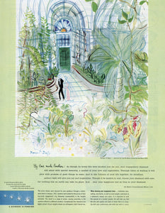 De Beers Diamonds Advertisement - Gift For Jeweler - Raoul Dufy Artwork