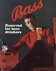 Bass Beer Advertisement - Bar Wall Decor - Man Cave Wall Hanging - Alcohol Print Ad