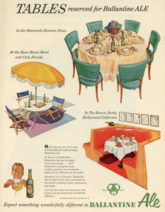 Ballantine Ale Advertisement - Bar Wall Decor - Man Cave Wall Hanging - Alcohol Print Ad