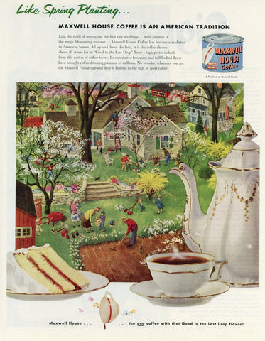 Maxwell House Coffee Advertisement - Kitchen Wall Decor - Coffee Shop Wall Hanging