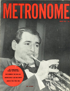 Metronome March 1952 Magazine - Ray Anthony Memorabilia - Vintage Music Collectable