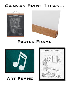 Canvas Art Print & Original Art Print - Patent Wall Decor