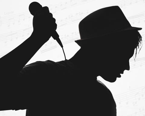 Silhouette Singer Photograph - 10X8 Digital Download