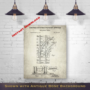 1932 Railroad Track Patent Digital Download - Railway Enthusiast Memorabilia - Instant Download