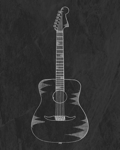 Fender Acoustic Guitar Drawing