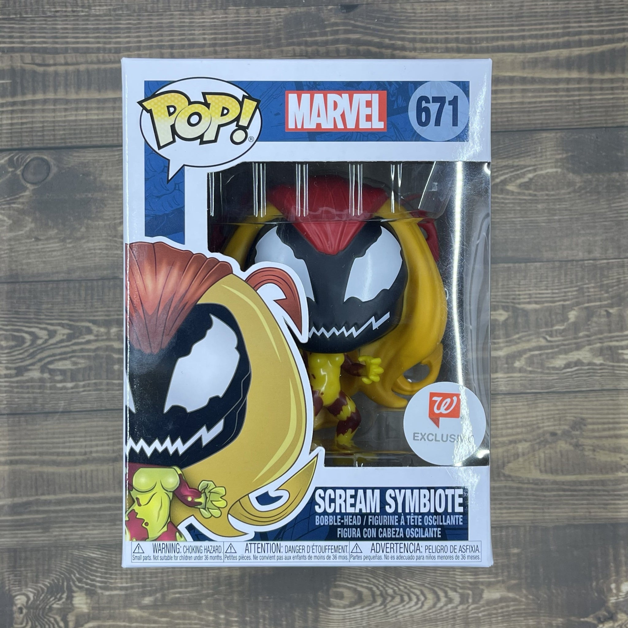 Funko Pop 671 Scream Symbiote - Marvel Character Collectible