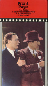 Front Page VHS (USED) - Pat O'Brien - Edward Everett Horton - Adolph Menjou - Mae Clarke
