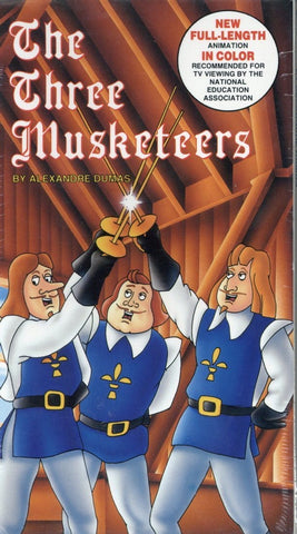 The Three Musketeers VHS (Brand New) - A Fully Animated Feature - Kids Home Video