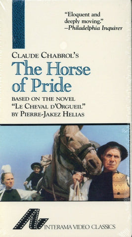 The Horse of Pride VHS (Brand New) - Le Cheval D'Orgueil - Claude Chabrol