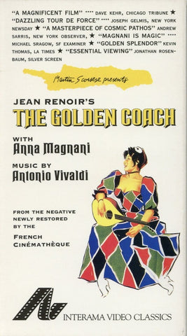 The Golden Coach VHS (USED) - Anna Magnani - Interama Video Classics - French Film