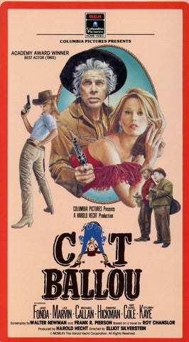 Cat Ballou VHS (USED) - Columbia Pictures Presents - Jane Fonda - Lee Marvin - Michael Callan