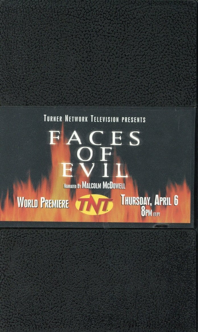 Faces Of Evil VHS (USED) - Malcolm - World Premiere - TNT - Malcolm McDowell
