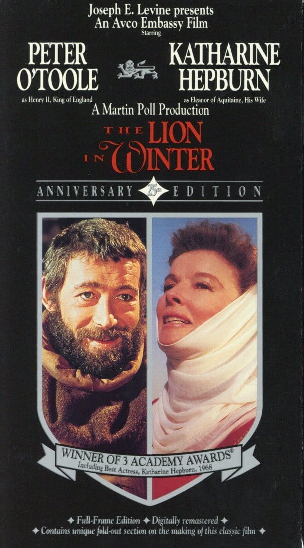 The Lion In Winter VHS (USED) - Peter O'Toole - Katharine Hepburn - Classic Movie