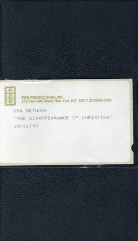 The Disappearance Of Christina VHS (USED) - Screener VHS Tape - Promotional Movie - USA Network - Rare Vintage Collectible