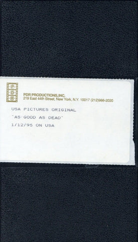 As Good As Dead VHS (USED) - Screener VHS Tape - Promotional Movie - USA Pictures Original - Rare Vintage Collectible