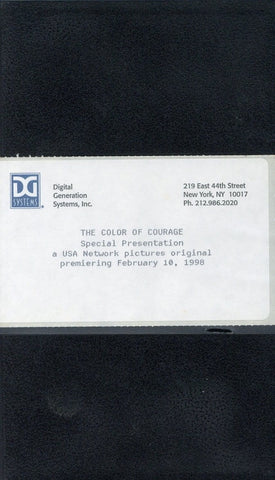 The Color Of Courage VHS (USED) - Screener VHS Tape - Promotional Movie - USA Network Pictures - Rare Vintage Collectible