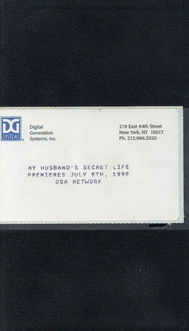 My Husband's Secret Life VHS Movie (USED) - Screener VHS Tape - Promotional Movie - USA Network - Rare Vintage Collectible