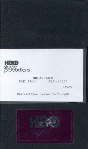 Breast Men VHS Movie (USED) - Screener VHS Tape - Promotional Movie - HBO Studio - Rare Vintage Collectible