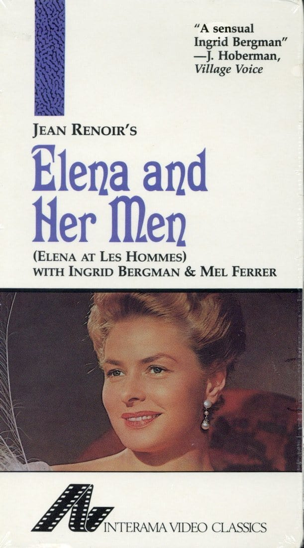 Elena And Her Men VHS (Brand New) - Jean Renoir - Ingrid Bergman - Interama Video Classics
